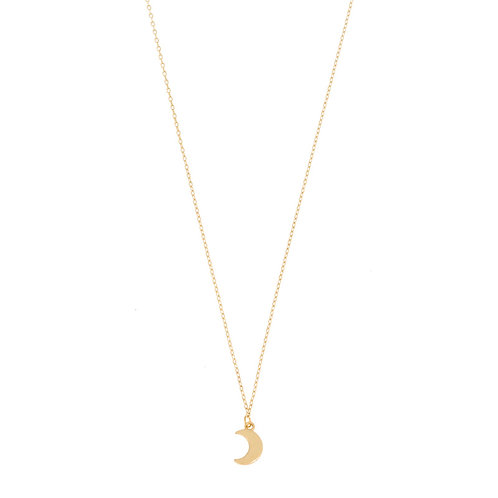 Small moon necklace 02-Gold plated