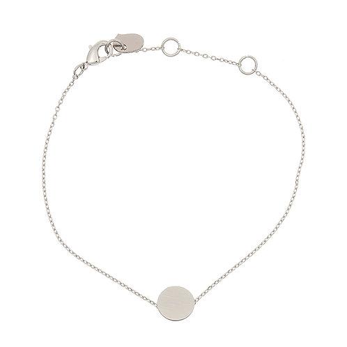 Brushed circle bracelet 01-Silver Finishing