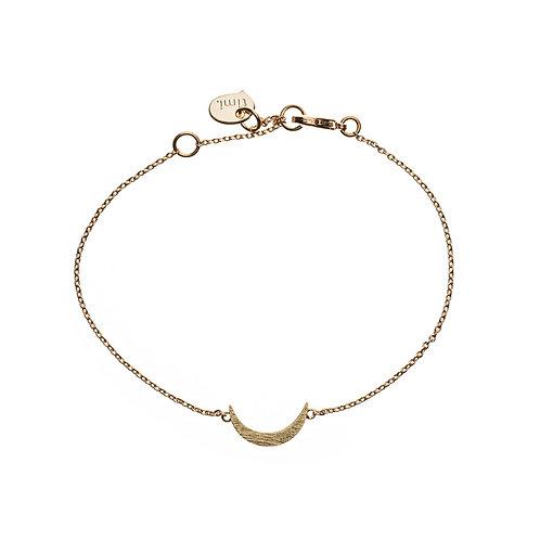 Crescent Moon Bracelet 02-Gold plated
