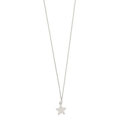 New star Necklace 01-Silver Finishing