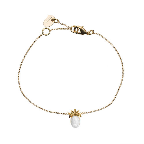 3d Pineapple with stone Br 02-Gold plated