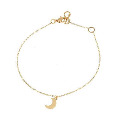Small moon bracelet 02-Gold plated