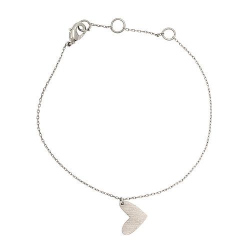 New heart bracelet 01-Silver Finishing