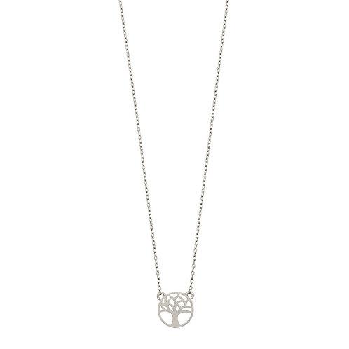 Joshua tree necklace 01-Silver Finishing
