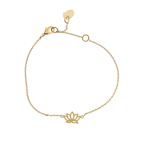 Lotus Bracelet 02-Gold plated