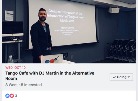 DJ-ing at the alternative room of Tango_Cafe in NYC