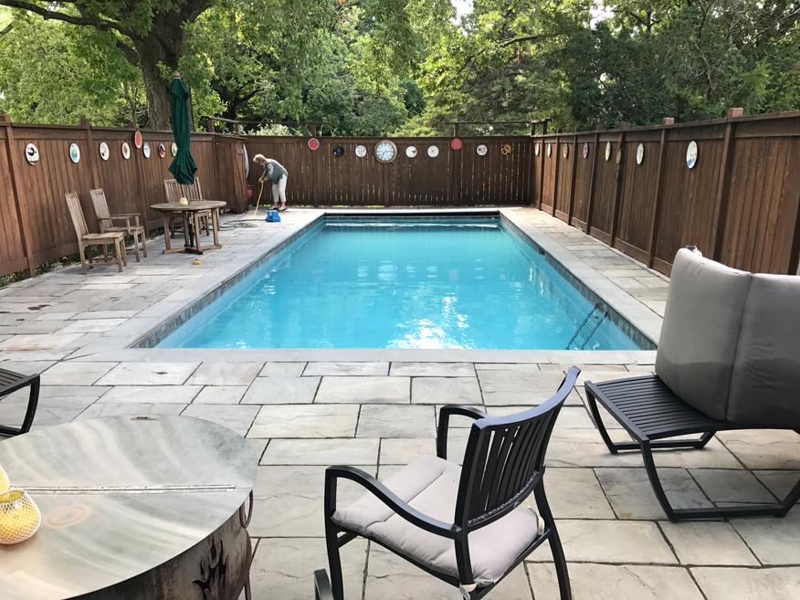Pool (when in season)