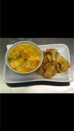 Eggdrop Soup with Crunchies