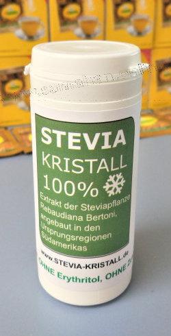"""NEU: Stevia KRISTALL 100%, Reines PREMIUM (""""GOLD"""") Steviolglykoside (E960) 75g"""