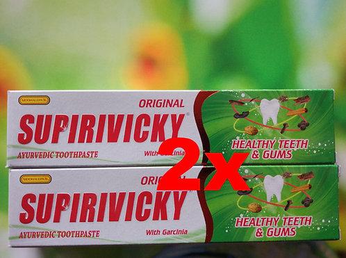 """2x Ayurvedische Zahnpasta! SUPIRIVICKY """"ORIGINAL"""" 2x110g"""