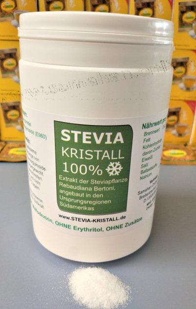 """Stevia KRISTALL 100%, Reines PREMIUM (""""GOLD"""") Steviolglykoside (E960) 500g"""