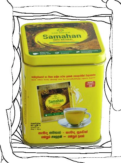 Samahan 30 Tassen in der Dose