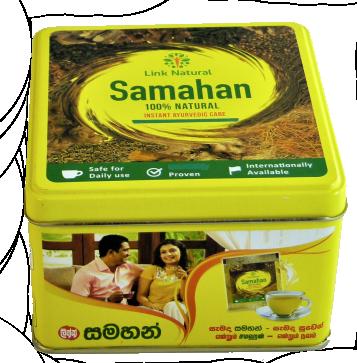 Samahan 60 Tassen in der Dose