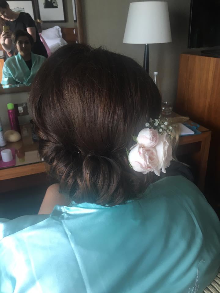 rolled vintage hair