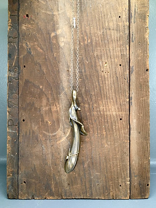 Bronze Hosta Spider Pendant by Scott Long