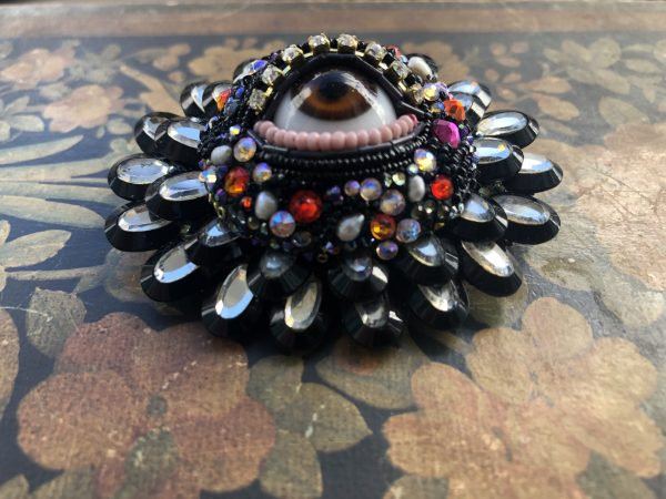 Large Round Eye Brooch by Betsy Youngquist