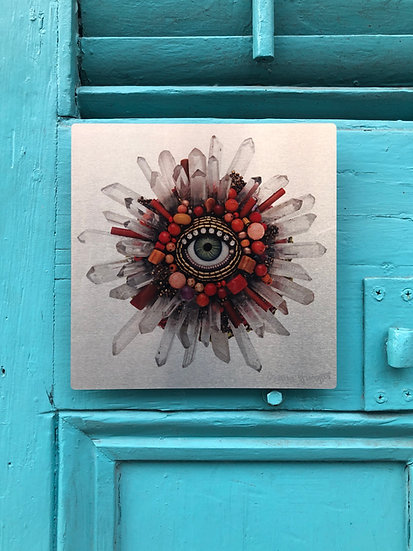 Small Signed Aluminum Eyeshine Artist Proof by Betsy Youngquist