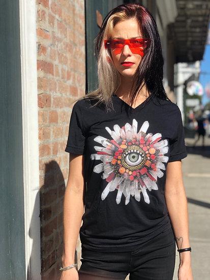 Unisex Eye Shine V Neck T-Shirt