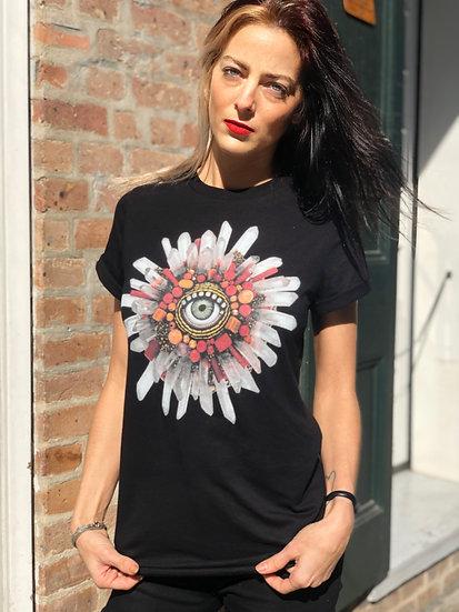 Unisex Eye Shine Rolled Sleeve T-Shirt
