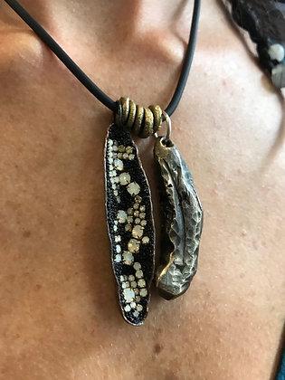 Copper & Bronze Pod Tribal Assemblage Necklace