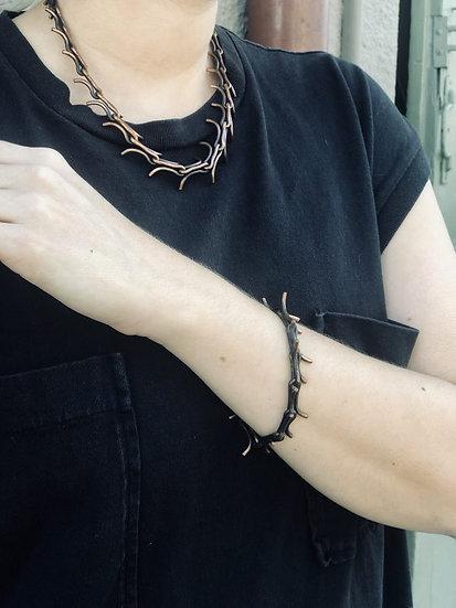 Bronze Handmade Chainlink Bracelet by Scott Long