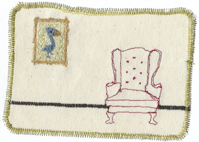 Bird Chair | Stitched Card