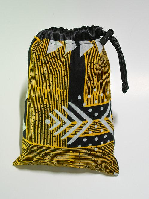 Black & Yellow African Print Travel bags