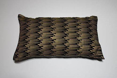 Black & Gold African Print Travel pillow