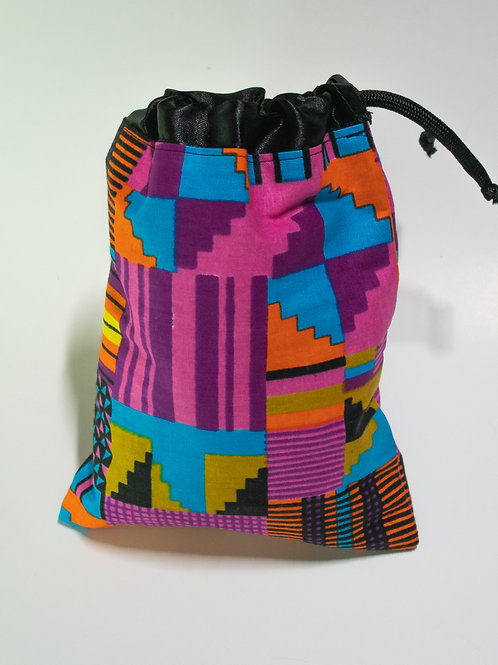 Pink & Teal African Print Travel bag