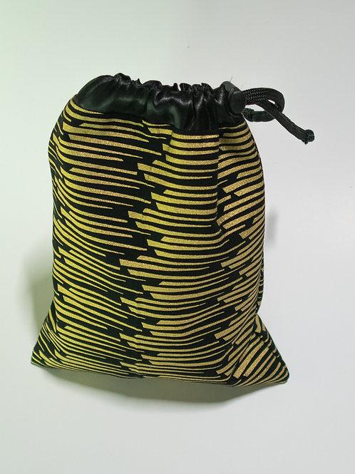 Black & Gold African Print Travel bag