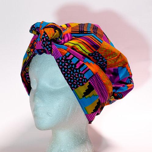 Purple  African printBonnet