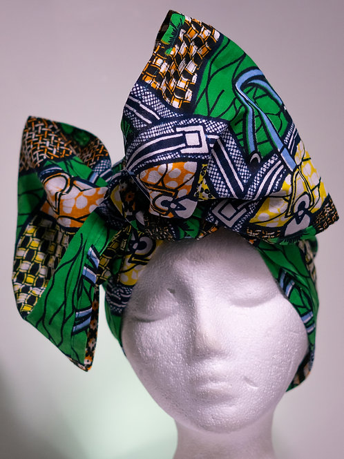 Green Mini headwrap