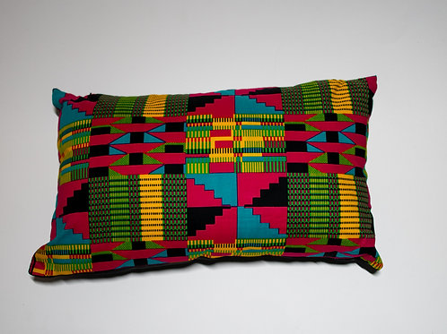 Pink African Print Travel pillow