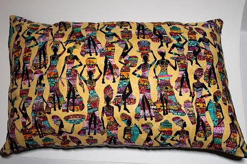 African Ladies Print Pillow
