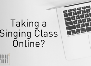 Taking a Singing Class Online