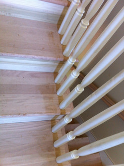 Stair refinish and stain (before)