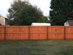 Finished fence stain