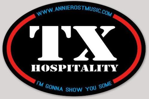 Texas Hospitality Stickers