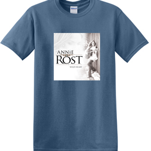 Annie Rost Music T-Shirt - Indigo Blue