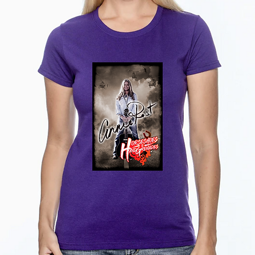 Horseshoes and Hand Grenades  - Purple Ladies T-Shirt