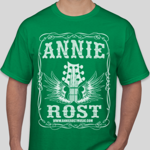 Annie Rost Music T-Shirt - Irish Green