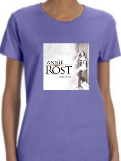 "Annie Rost Music ""Ladies Fit"" T-Shirt - Violet"
