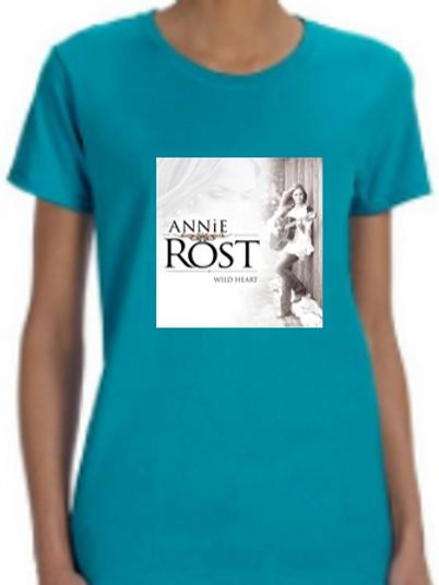 "Annie Rost Music ""Ladies Fit"" T-Shirt - Tropical Blue"