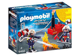 PLAYMOBIL 9468 CITY ACTION - Firefighters with Water Pump
