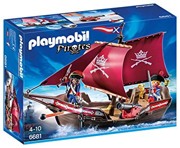 PLAYMOBIL 6681 PIRATES - Soldiers' Patrol Boat