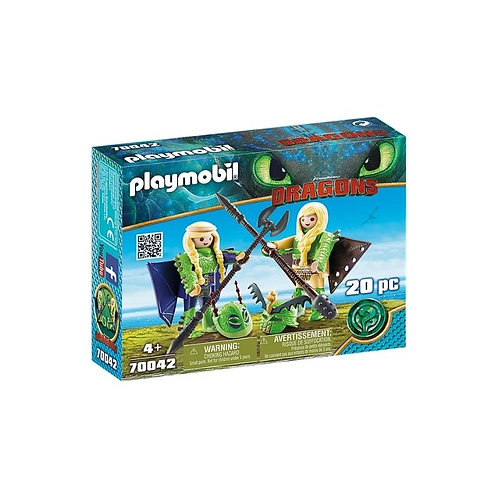 PLAYMOBIL 70042 DRAGONS - Ruffnut and Tuffnut with Flight Suit