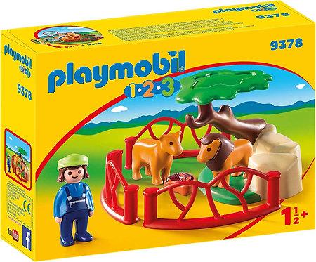 PLAYMOBIL 9378 1.2.3 - Lion Enclosure