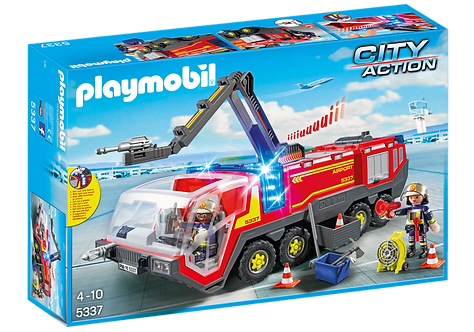 PLAYMOBIL 5337 CITY ACTION - Airport Fire Engine with Lights and Sound