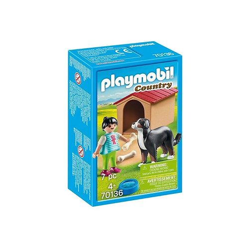 PLAYMOBIL 70136 COUNTRY - Dog with Doghouse