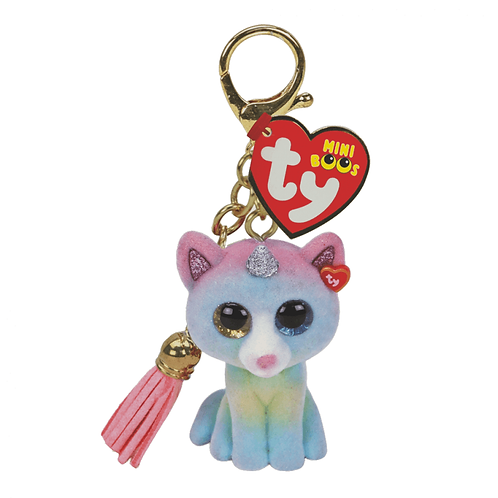 TY HEATHER CAT MINI BOOS CLIP (25059)